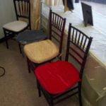 mahogany black and clear ice chiavari chairs